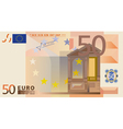 Euro 50 Bank Note vector image vector image
