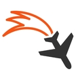 Falling Airplane Icon vector image vector image