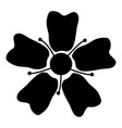 flower sakura icon black color flat style simple vector image vector image