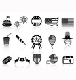 fourth july icons set vector image vector image