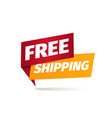 free shipping isolated icon delivery vector image