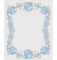 Gemstone frame vector image vector image