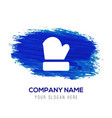 gloves icon - blue watercolor background vector image