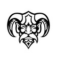 hades greek god head front view mascot black vector image