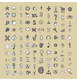 hand draw doodle icon set vector image vector image