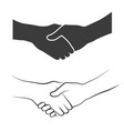 handshake icons vector image vector image