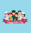 happy labor day postcard template vector image