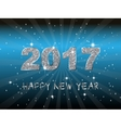 Happy New Year 2017 backgroundTypographic vector image