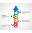 Infographics in the form of arrows vector image vector image
