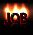 Job word over fire