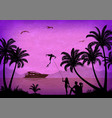 landscape tropical beach vector image