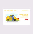 local taxi service and airport transfers mobile vector image