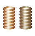 metal springs vector image