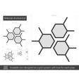 Molecular structure line icon vector image vector image