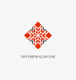 mosaic rhombus emblem vector image vector image