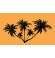 Palm trees in contours vector image vector image
