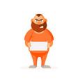 prisoner thug vector image