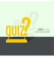 Quiz background vector image vector image