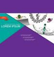 realistic jewelry accessories composition vector image vector image