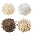 Rice pile set vector image