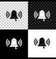ringing bell icon isolated on black white and vector image vector image