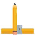 school pencil supply witth sharpener vector image vector image