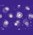seamless pattern with snowflakes winter abstract vector image vector image