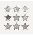 Stars set Pattern geometric vector image vector image