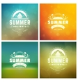 Summer Holidays Retro Typography Set vector image