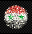 syria flag sparkling badge vector image vector image