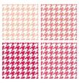 Tile pink houndstooth pattern or background set vector image vector image