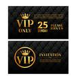 vip luxury invitation event vintage leather vector image