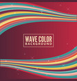 wave color background with retro color vector image vector image