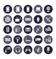 wireless devices flat glyph icons wifi internet vector image