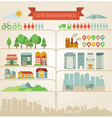 design elements for infographics about city and vi vector image