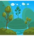 Fantasy Cartoon Landscape vector image