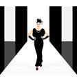 fashion model on the podium vector image