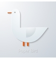Summer Travel Paper Seagull Bird flat icon vector image