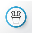 cactus icon symbol premium quality isolated vector image