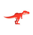 cute cartoon tyrannosaurus rex dinosaur vector image