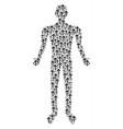 arrow direction human figure vector image vector image