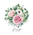art floral watercolor bouquet editable vector image