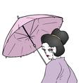 artistic geisha vector image vector image