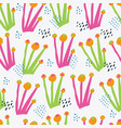 botanical color hand drawn seamless pattern vector image vector image