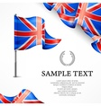 British flag banners with vector image vector image