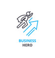 business hearo concept outline icon linear sign vector image vector image