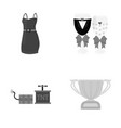business trade celebration and other monochrome vector image vector image