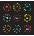 Collection of logos templates ink effect vector image vector image