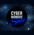 cyber monday sale technology background vector image vector image