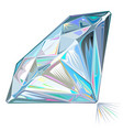diamond side view isolated vector image vector image
